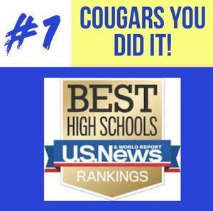 We're number #1! US News High School Rankings