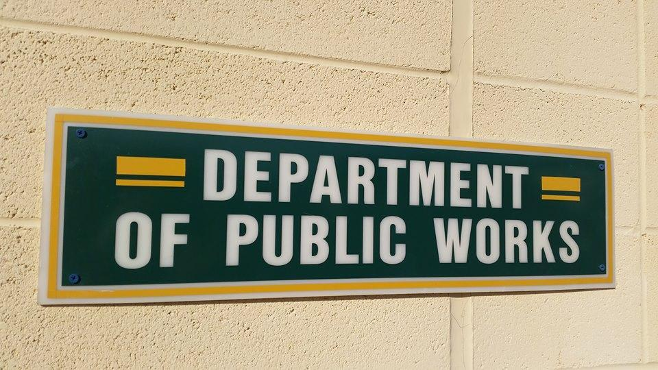 Public Works Department sign