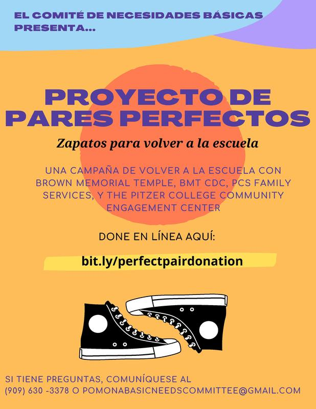 A back-to-school drive with Brown memorial temple, BMT CDC, PCS Family Services and the Pitzer College Community Engagement Center.