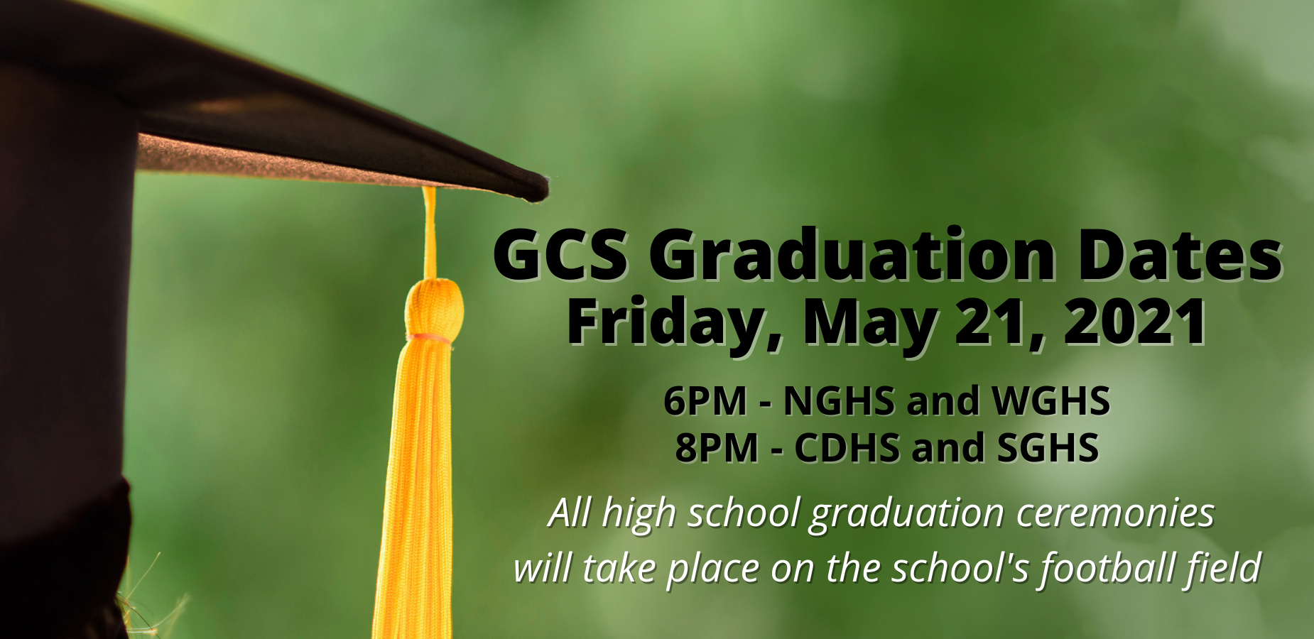 GCS Graduation for Class of 2021