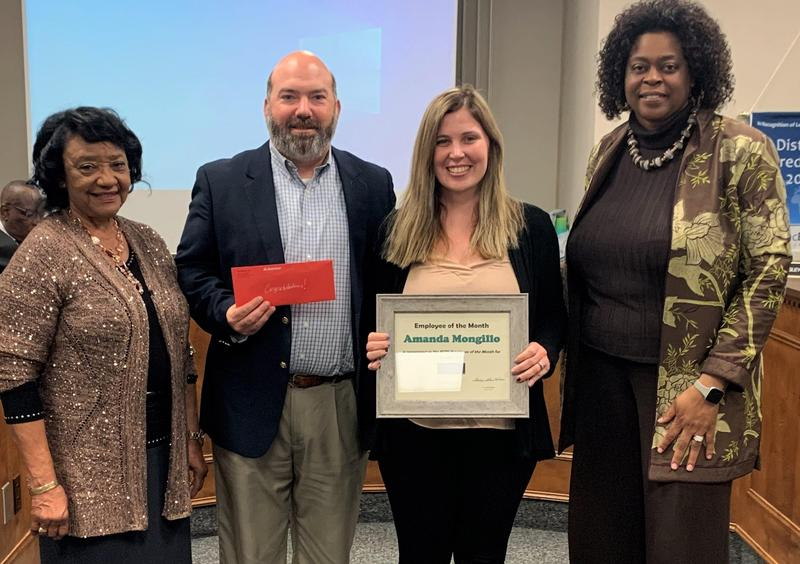 Mongillo recognized as ECPS Employee of the Month Featured Photo
