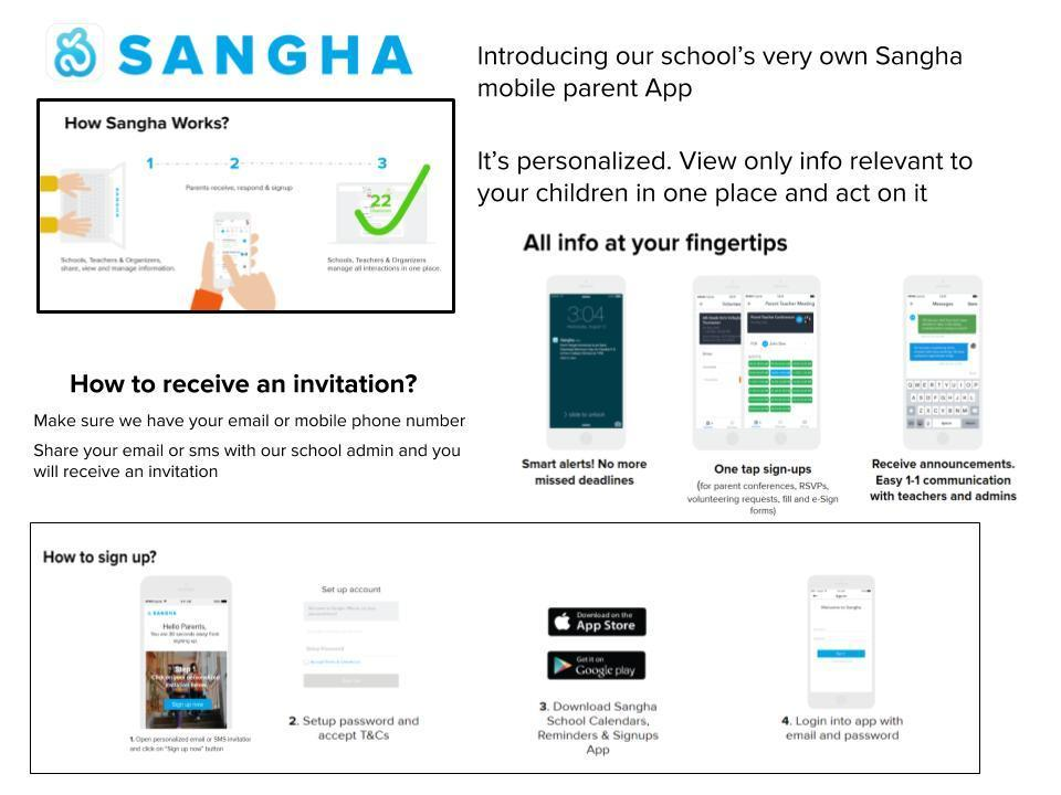Sangha information for new parents