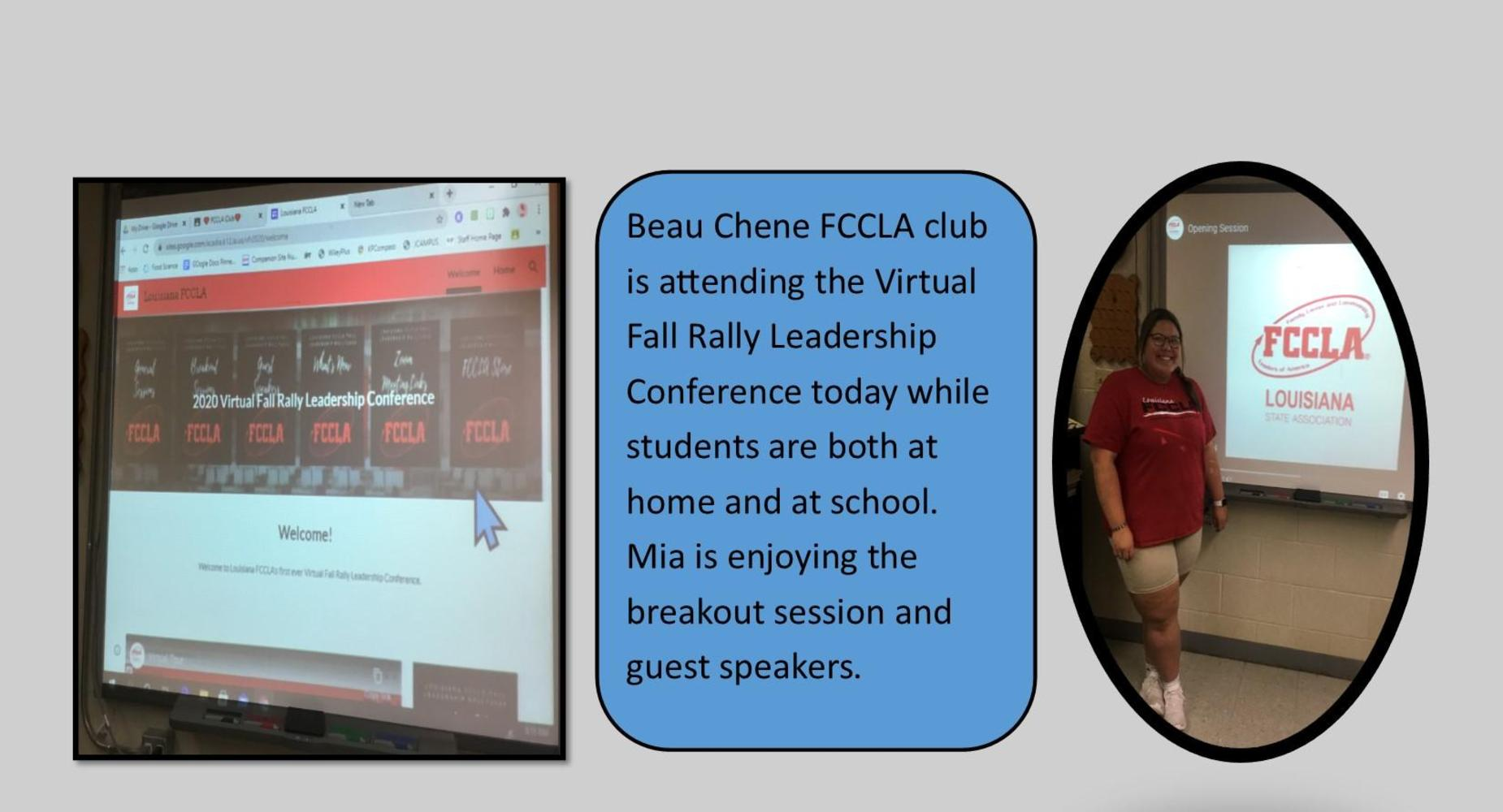Virtual Fall Leadership Rally held at Beau Chene High School
