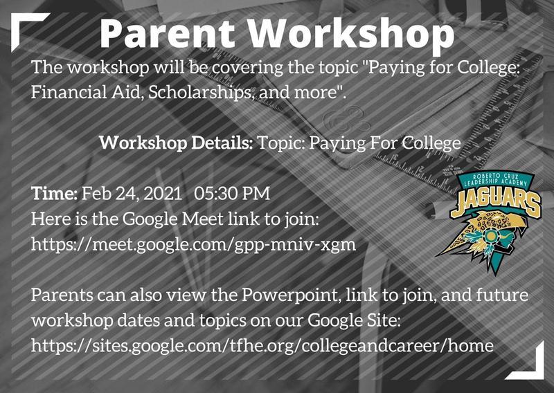 Parent Workshop 2/24/2021 @ 5:30pm Featured Photo