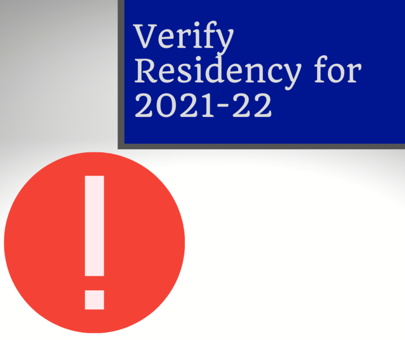 Verify your child's residency for 2021-22 school year / Verifique la residencia de su hijo para el año escolar 2021-22 Featured Photo