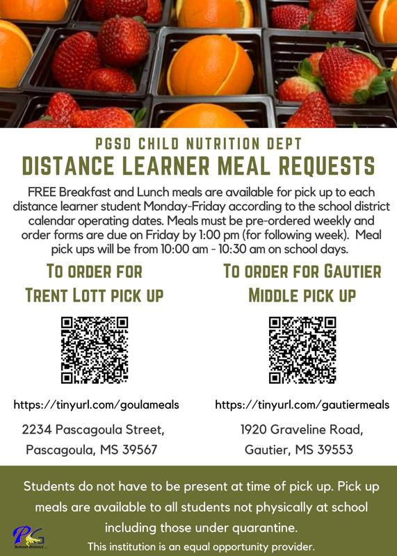 Distance Learner Meal Requests
