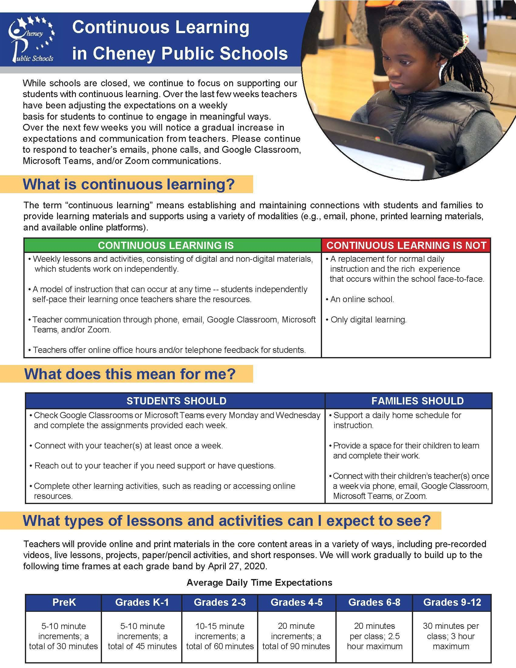 continuous learning information