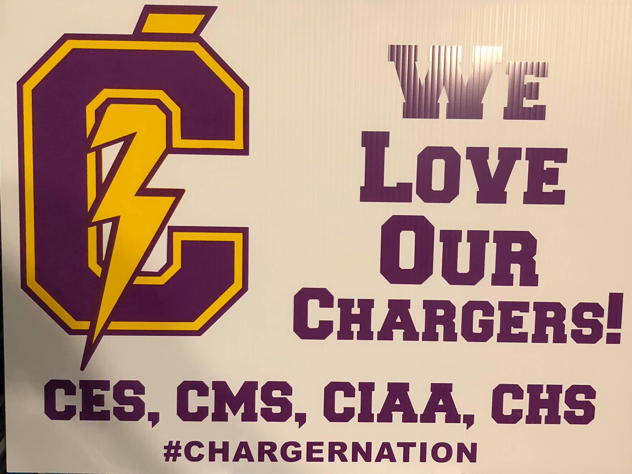 Covington Charger Sign