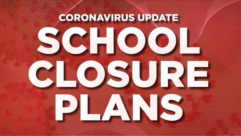 School Closure Plans on red background