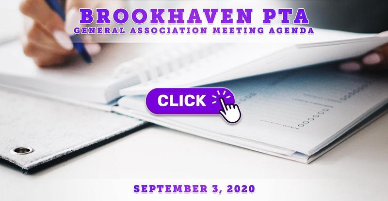 PTA General Association Meeting Agenda: September 3, 2020
