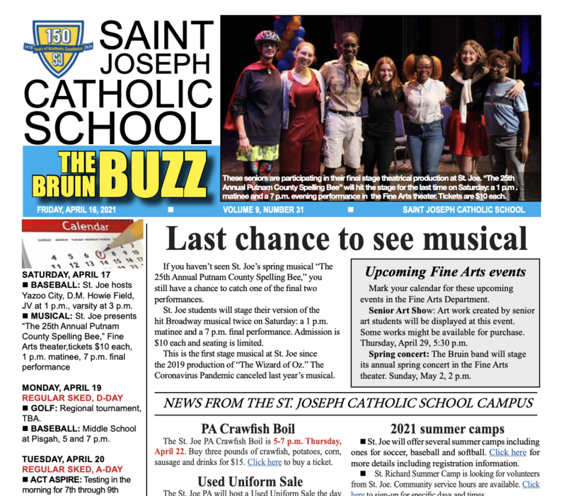 THE BRUIN BUZZ, FRIDAY, APRIL 16 Featured Photo