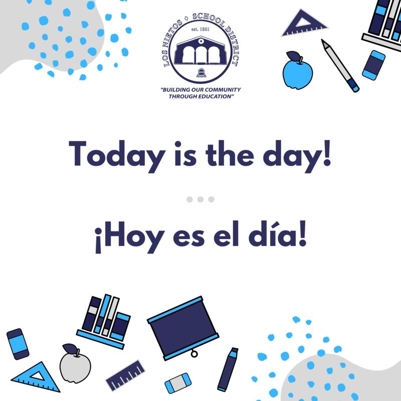 Today is the day! / ¡Hoy es el día! Featured Photo
