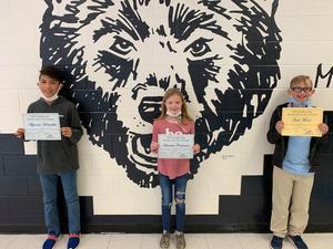 Winners of the spelling bee
