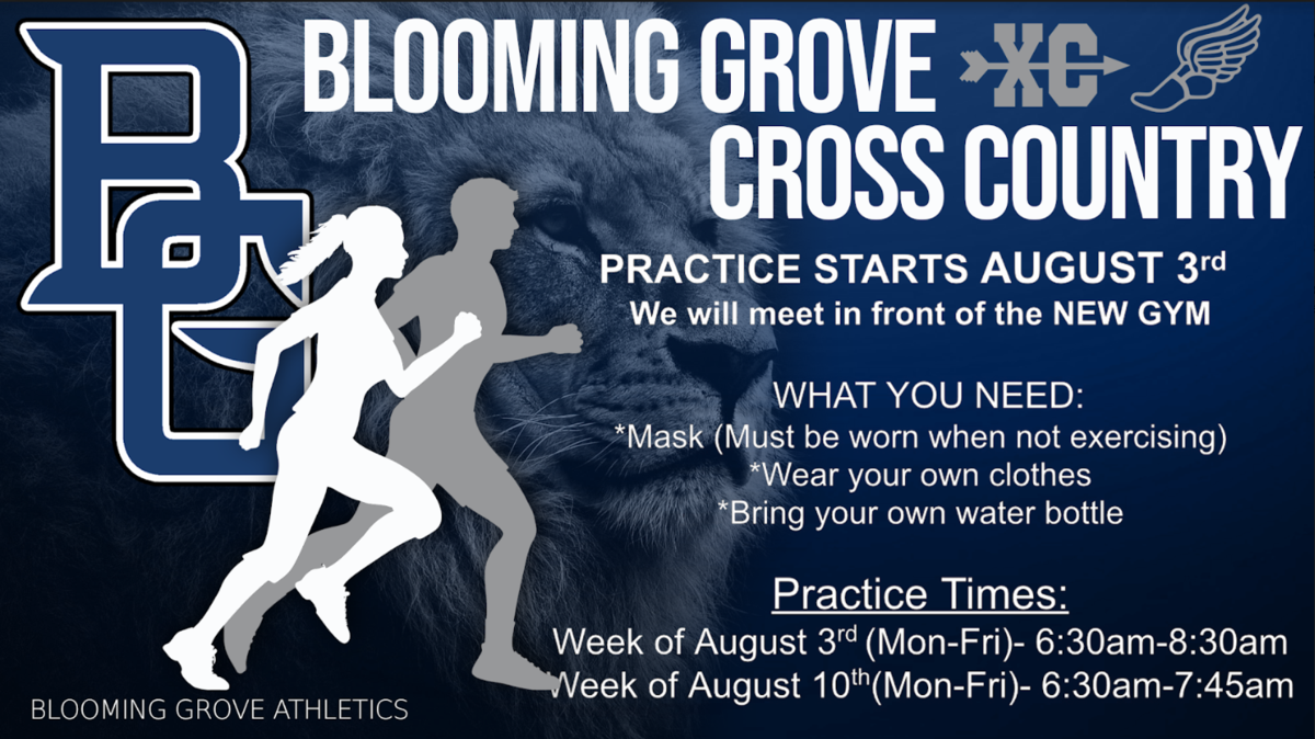 BGHS Practice Schedule