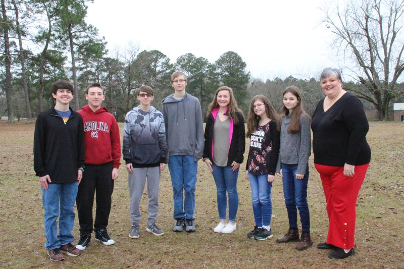 Seven students at B-L High School earned perfect scores on one of their end-of-course exams for the first semester.
