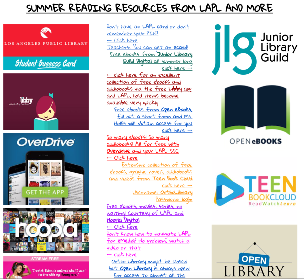 Summer Reading Options