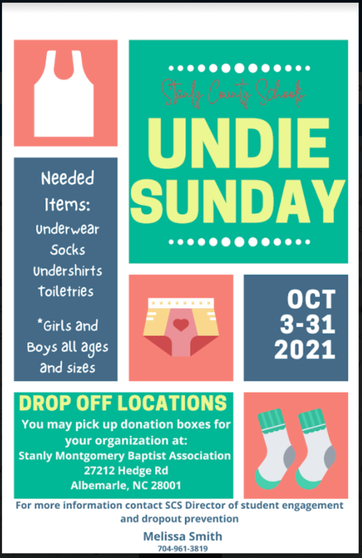 Attention Colt Community!  Stanly County Schools Undie Sunday Featured Photo