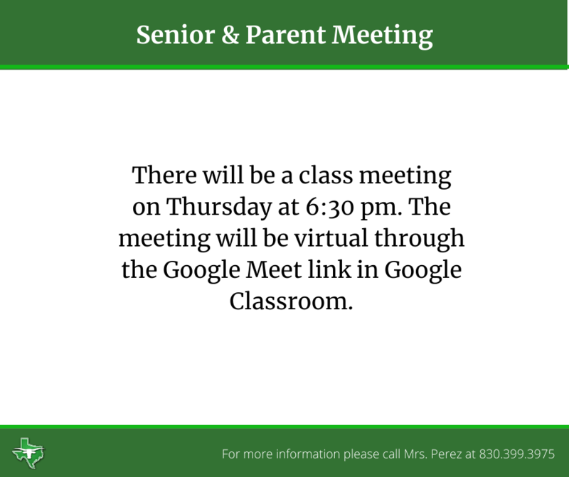 Senior Parent Meeting Thumbnail Image