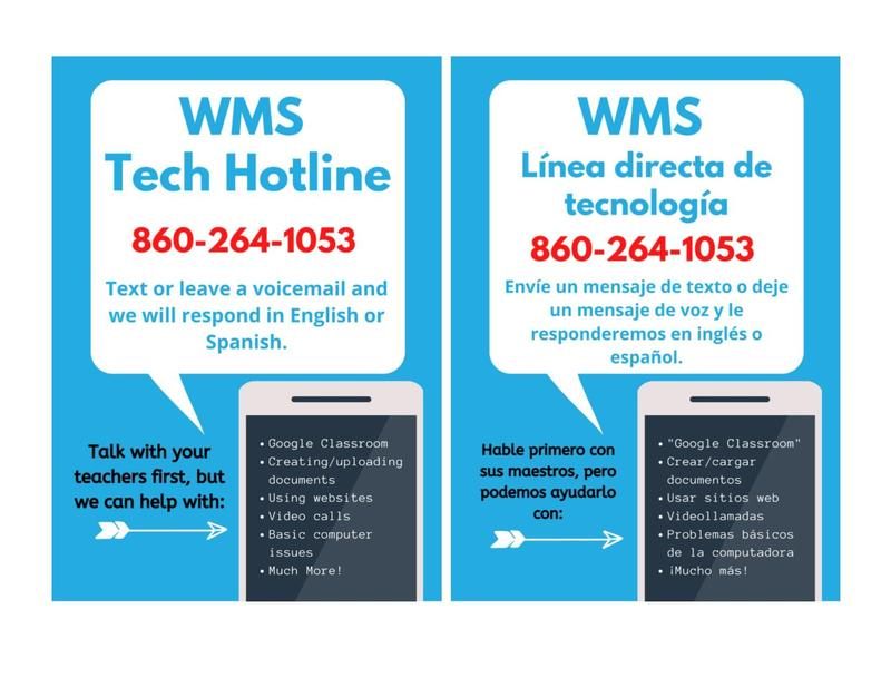 WMS is offering a Technical Hotline for all Wildcats! Thumbnail Image