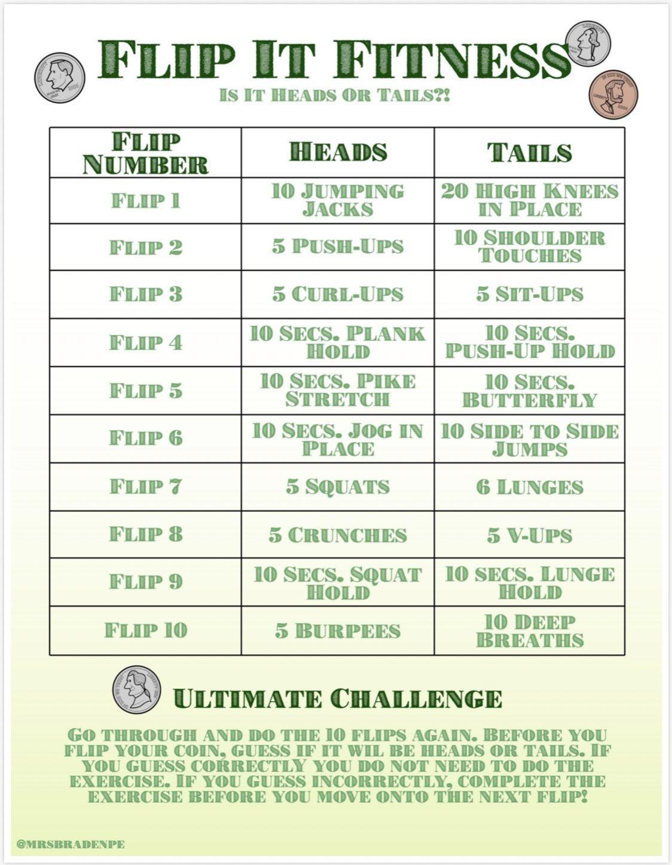 Coin Flip Fitness Activity