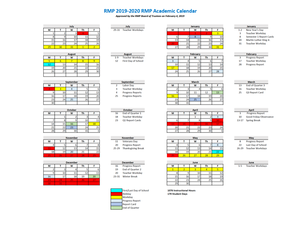 Calendar 2020 Dc February Rocky Mount Prep