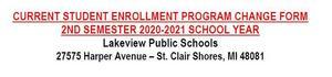 Student Enrollment Program Change