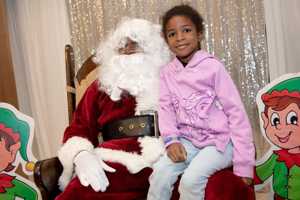 Santa Claus and a young student
