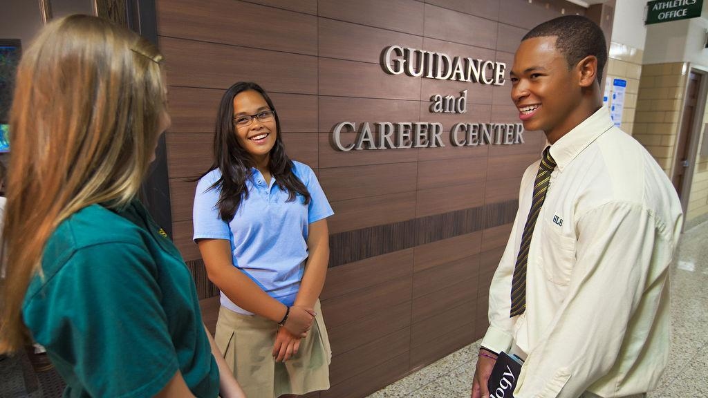 Students standing outside Guidance & Career Center
