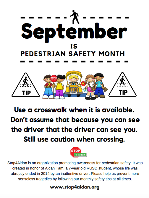 Pedestrian Safety Announcement Featured Photo