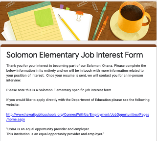 Picture of Job Interest Form