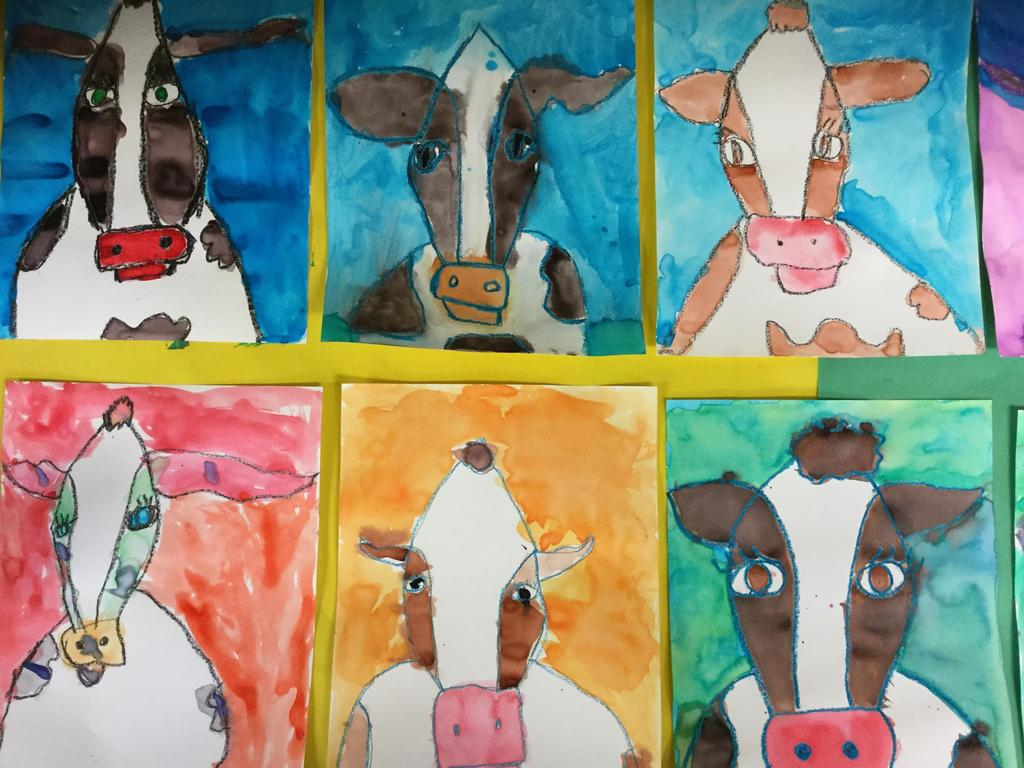 Cow water colors