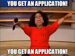 Applications are here!