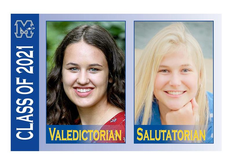 Mars Area graduates Elizabeth Long and Mckenna Bowes were named valedictorian and salutatorian of the Class of 2021, respectively.