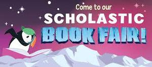 Picture of Scholastic Book Fair with penguin