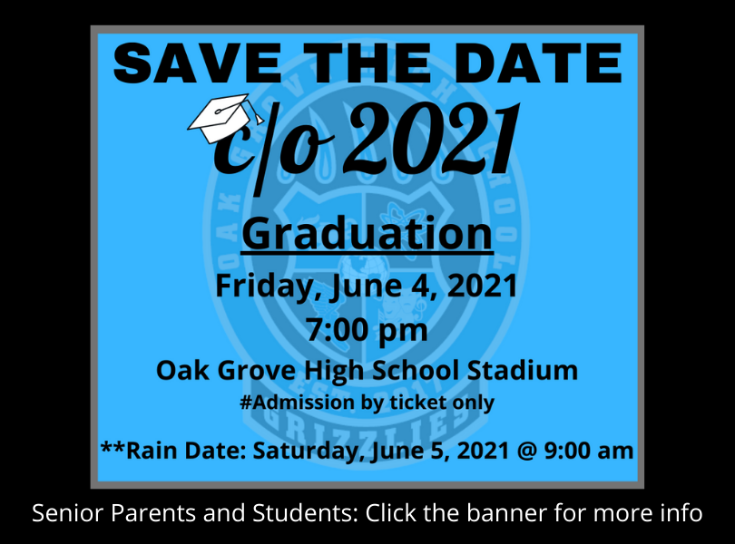 Save the Date: Graduation Friday, June 4th at 7:00pm