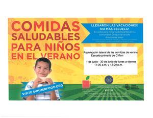 Spanish Flyer for Summer Meals