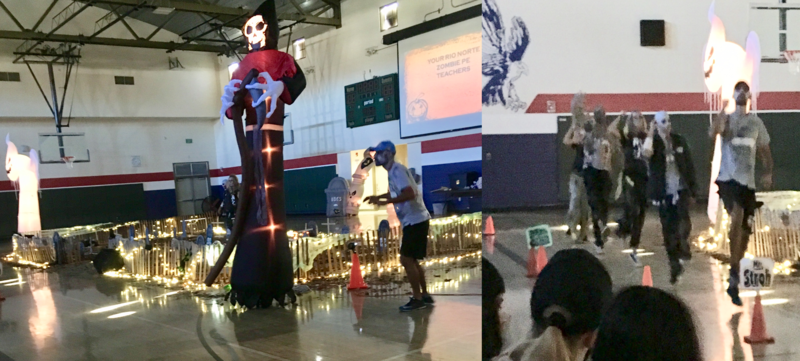 Our students had a visit from Zombie PE teachers today!