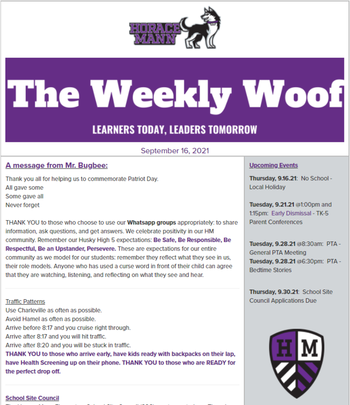 The Weekly Woof Newsletter for September 16, 2021 Featured Photo