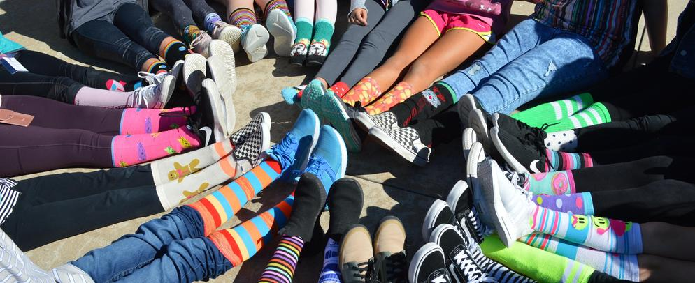 Crazy Sock Day Student Feet