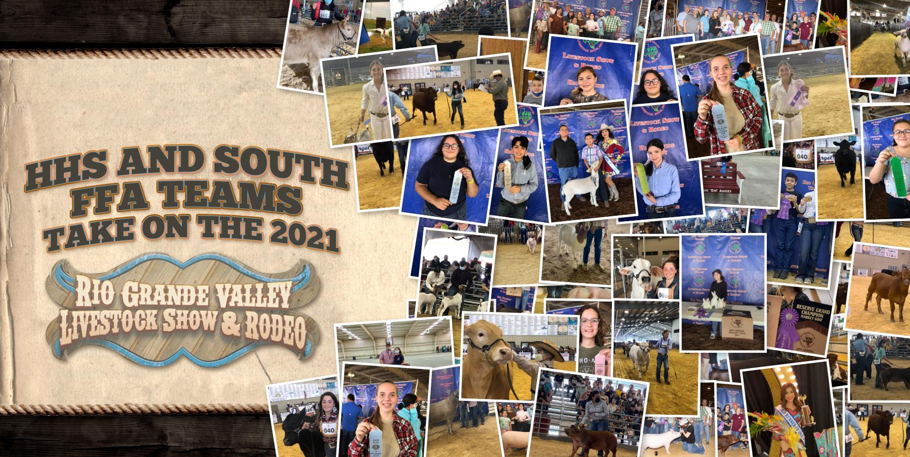 HHS and South FFA teams take on the 2021 Rio Grande Valley Livestock Show