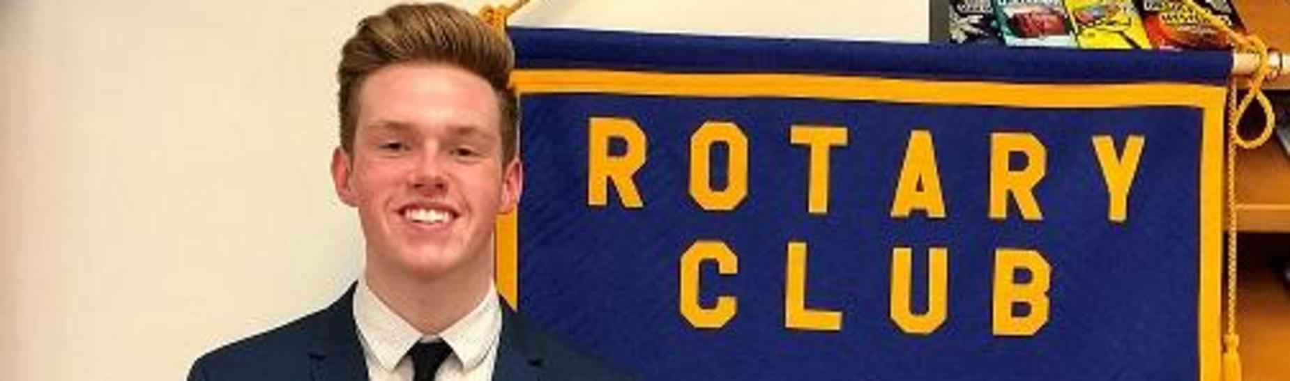 Clint Curfman took 1st place at the Rotary 4 Way Speech Contest at NBC.  Liberty Worthing captured 3rd place.  Clint advances to Regional competition in April.