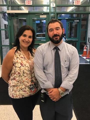 Mrs. Rojas and Mr. Albiez happy to welcome all to SGA Back to SChool night