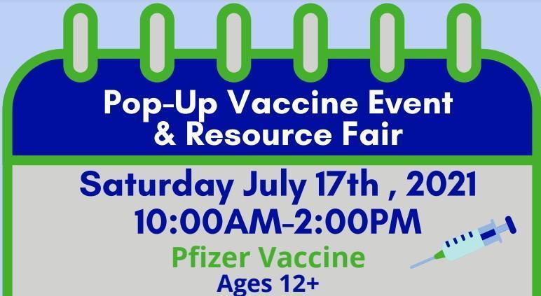 SPIRITT Pop Up Vaccine Event and Resource Fair Saturday 7/16 (vacunas y feria de recursos) Featured Photo
