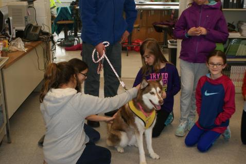 The Wow of Bow Wow class has a special visitor.