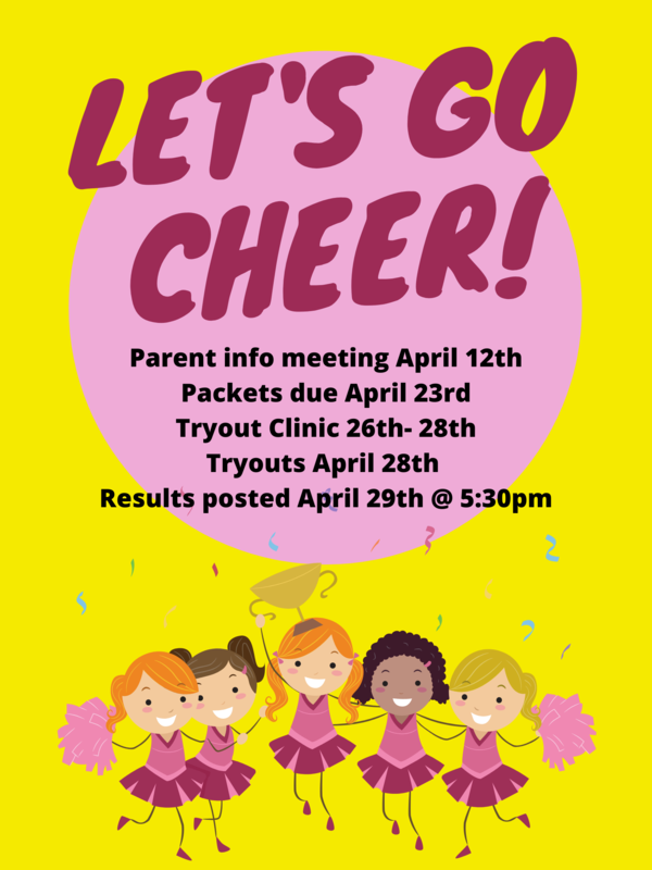 Lime Green and Pink Cartoon Cheerleading Tryouts Poster.png