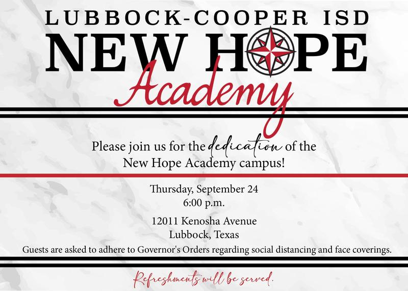 Please join us for the dedication of the New Hope Academy Campus. Thumbnail Image