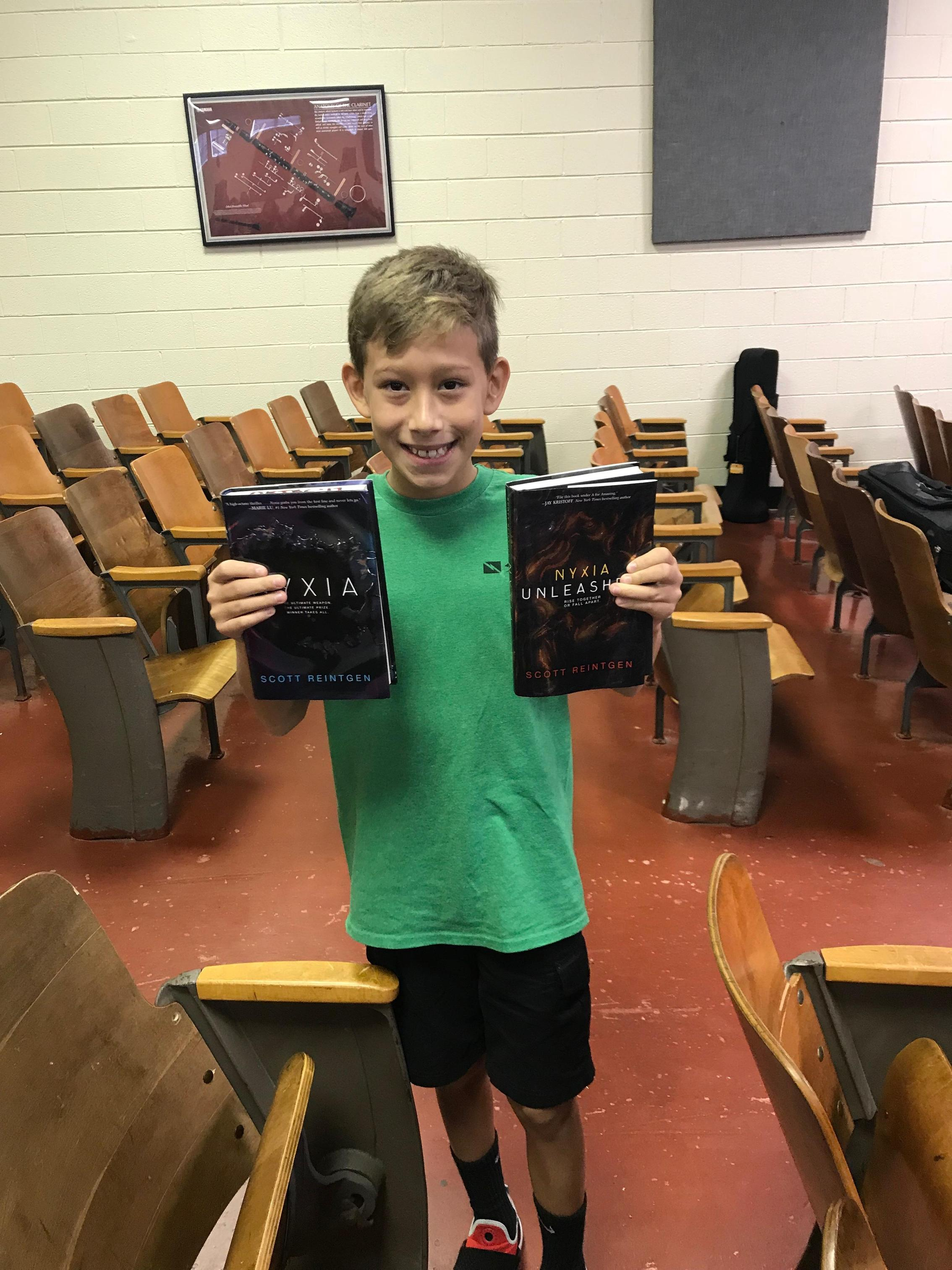 Student wins copies of Scott Reignten's novels.