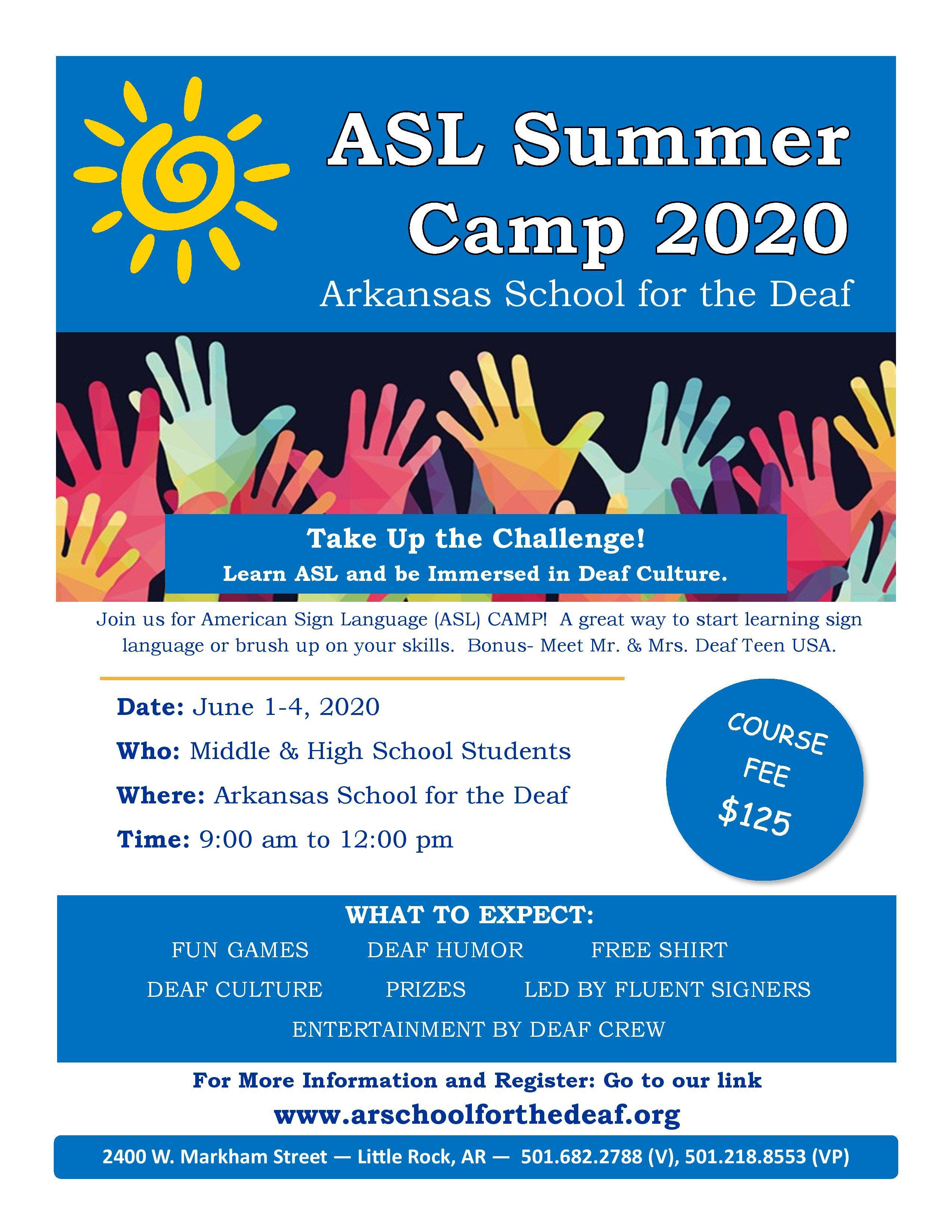 ASL Camp 2020 Flyer