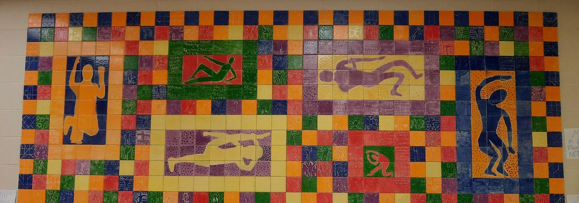 tile mural made by students