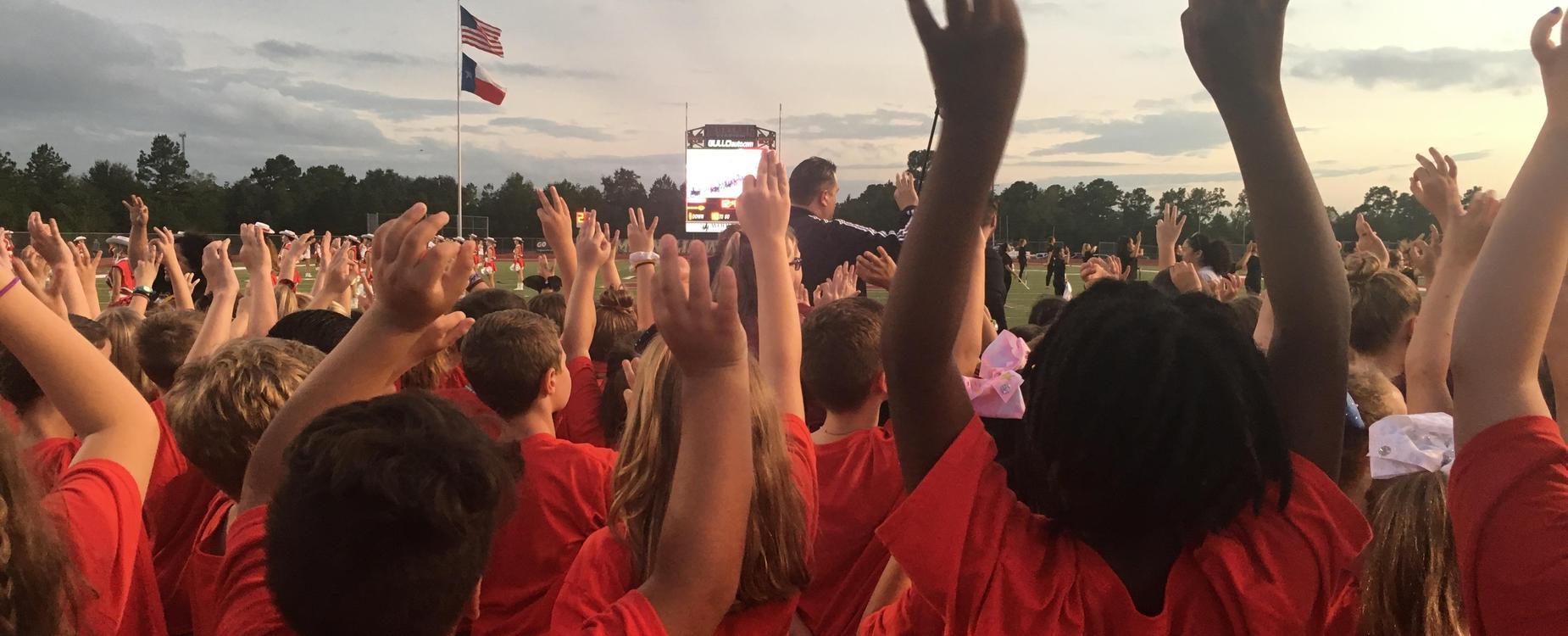 MES Choir at a West football game